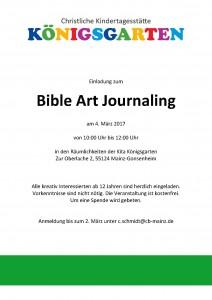 Einladung Bible Art Journaling