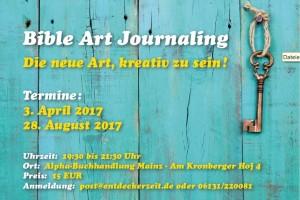 Flyer Art Journaling Alpha Mainz 2017