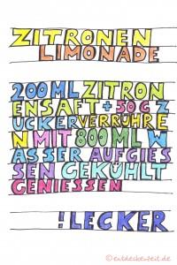 Limonade Rezept für Blog